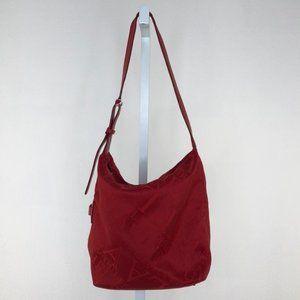 Furla Red Logo Canvas Shoulder Bag